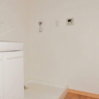 洗濯機はもちろん屋内におけます。