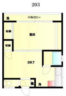 昭和の集合住宅203 の間取り
