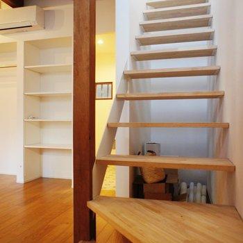 階段下デッドスペースは収納に