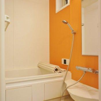 お風呂もオレンジ色がかわいい