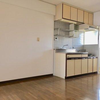 キッチンまわりも広々。横には大きな冷蔵庫も置けそう!