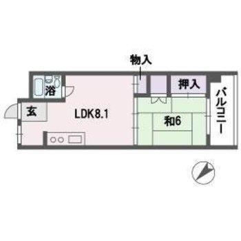 部屋は広々だけど、水回りがコンパクトだからひとり暮らし向けかな?