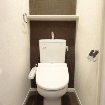 トイレに緑でも飾ろうかな。※写真は同間取り別室です。
