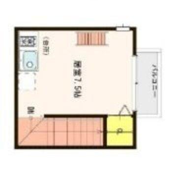 3層構造のお部屋。ぐるぐるのぼってね。