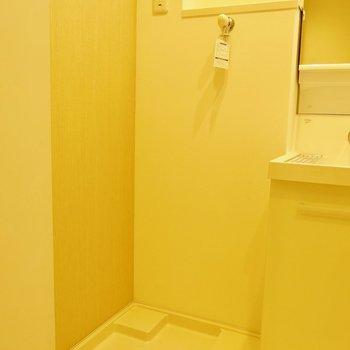 お風呂のすぐ近くに洗濯機置けます