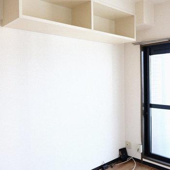これは飾り棚として使おうかなあ。※写真は7階の同間取り別部屋のものです