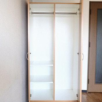 収納は少し小さめかなあ。※写真は7階の同間取り別部屋のものです