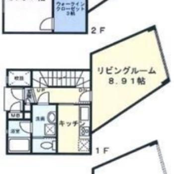 地上2階、地下1階