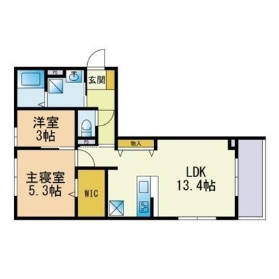 D-Room春日原の間取り