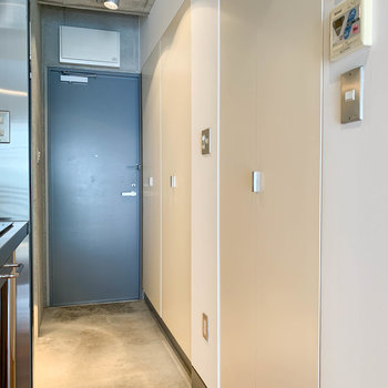 こちらの一見収納な扉たち。開けるとそれぞれ水回りなのです。
