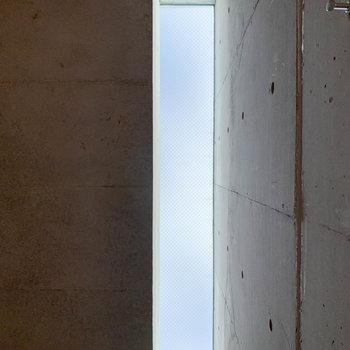 上を見上げると、天窓が。これがまた良いアクセントに。