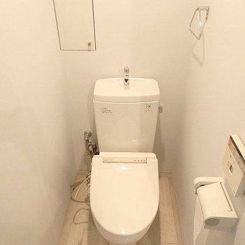 トイレには収納もちょこっと※写真は別部屋