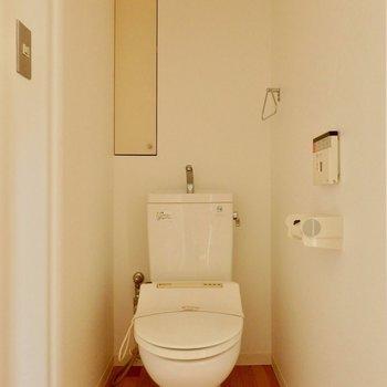 トイレもちゃんと個室です。※写真は通電前のものです。