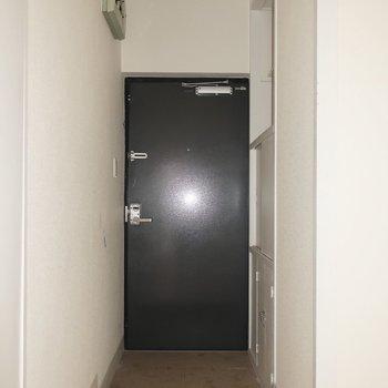 玄関だってシンプルなんだもの(写真は清掃前・通電前のものです)