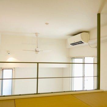 天井が高い(※写真は同間取り、別部屋)