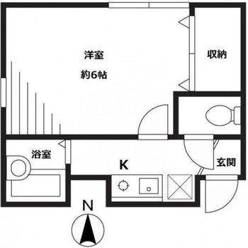 階段を登って奥にあるお部屋です