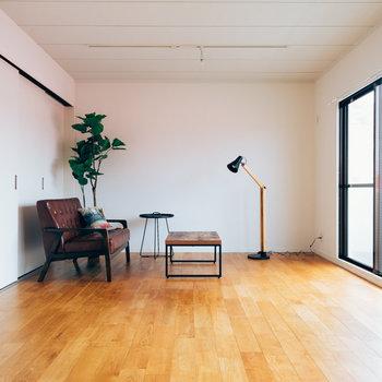 【イメージ】個室とリビングは引き戸で仕切って空間を自由に