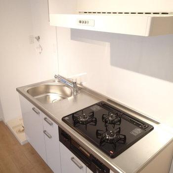 一人暮らしにしては贅沢なキッチン