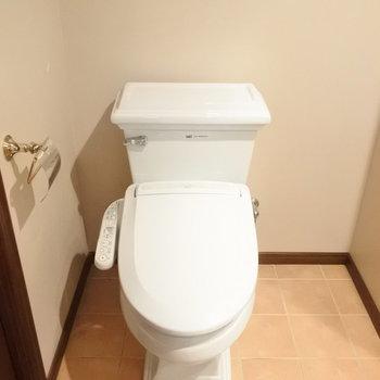 ちょっとレトロなトイレが素敵。