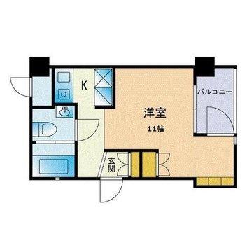 お部屋としては小さめです。