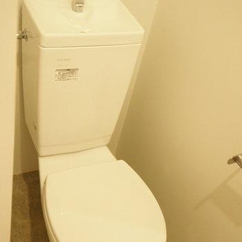 トイレの床までインダストリアルに、、