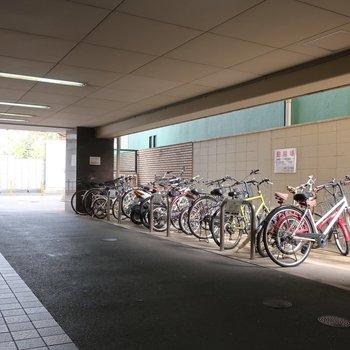 駐輪場もしっかりありますよ。
