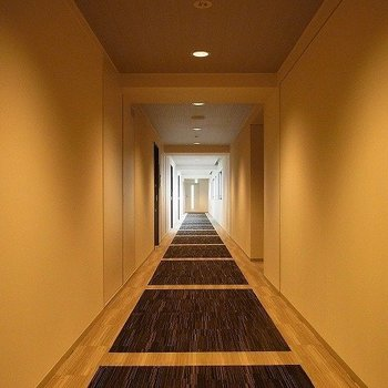 まるでホテルの様な廊下。