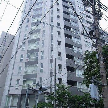 14階建の立派なマンション。