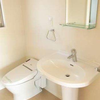 洗面台がちょっと可愛いですね。※写真は別部屋です