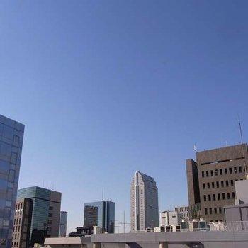 バルコニーからの眺望。※写真は別部屋です