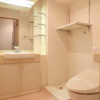洗面所広々としてますね※写真は別部屋です
