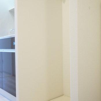 洗濯機は玄関入ってすぐのトコロ ※写真は別部屋