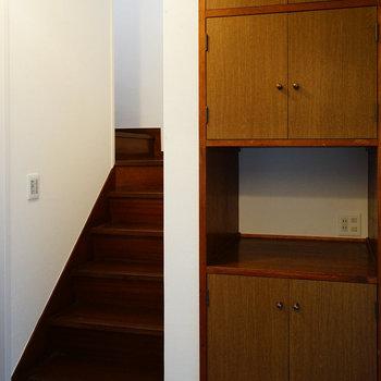 階段横に収納も◎