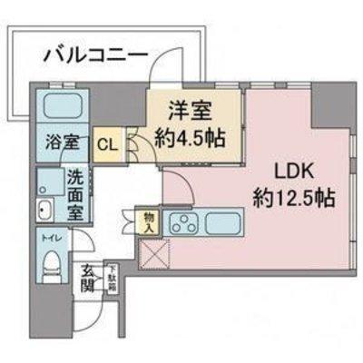 プラウドタワー覚王山1106号 の間取り