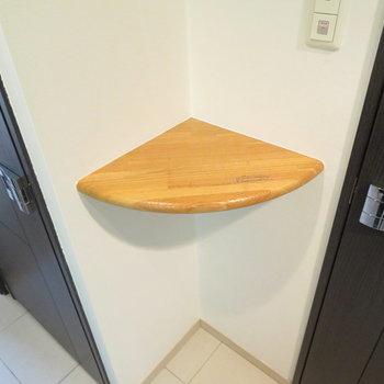 この棚!何に使うかは本当に住む人次第ですが有効に使いたい!(※写真は7階の同間取り別部屋のものです)