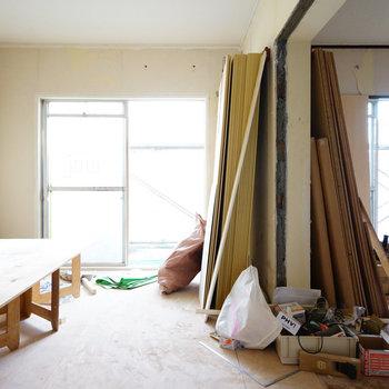 窓が大きくて明るさも◎※写真は工事中