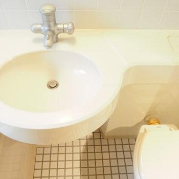 タイルがかわいい洗面所ですね。※写真と文章は前回募集時のものです※