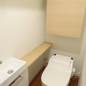 トイレには嬉しい手洗い場付き!ウォシュレットも完備されてます。