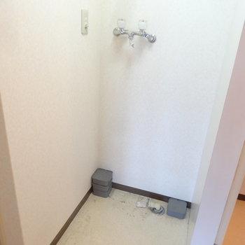 洗濯パンはトイレの横にあります。※クリーニング前です。