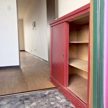 たくさん入りますよ!※写真は6階の反転間取り別部屋、清掃前のものです。
