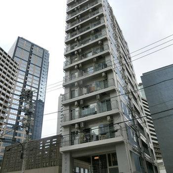 未来型タワー。ハンバーガー店とカフェ併設です!!