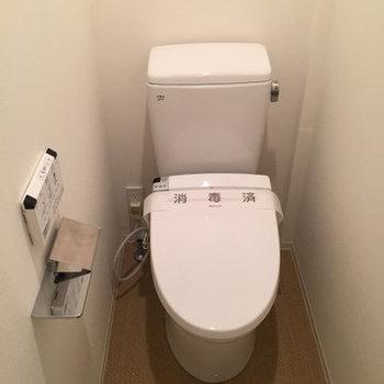完全独立トイレ。※写真は別部屋(1LDK)のプランです