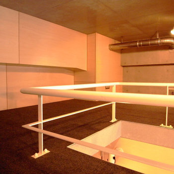 ロフト部分。こちらはベッドルームにどうぞ。※写真は3階別部屋同間取り、前回募集時のものです。