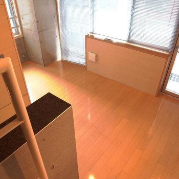 ロフトから見下ろした図。※写真は3階別部屋同間取り、前回募集時のものです。