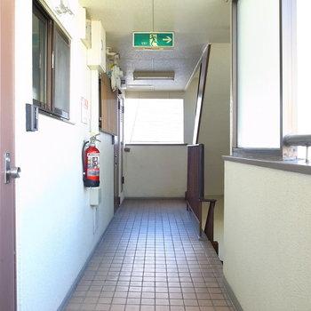 【共用部】風通しのいい廊下です。