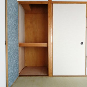 小さな押入れを発見!収納グッズを使ってスペースを活用したい。