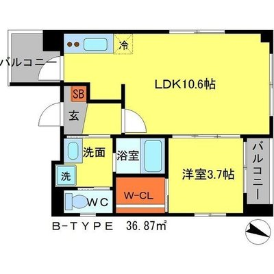 The Luxe京都三条 の間取り