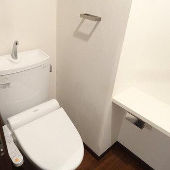 トイレはウォシュレット完備です。