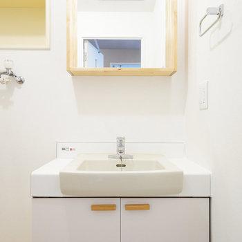 洗面台も可愛い!