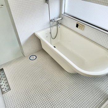 海外チックな浴槽です。